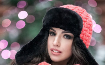 Вязаная шапка-ушанка на меху.  Фото: ledy-line.com.
