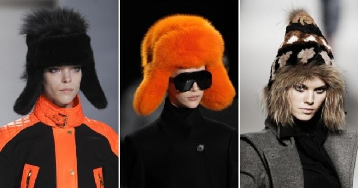 Модные шапки-ушанки.
