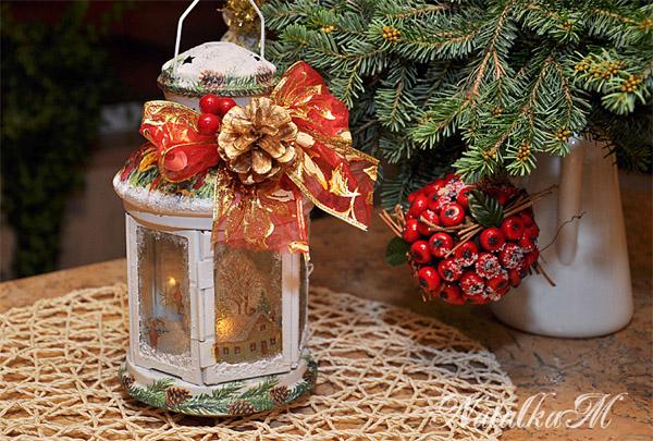 Картинки по запросу Рождественский фонарик своими руками: поделки к Новому году