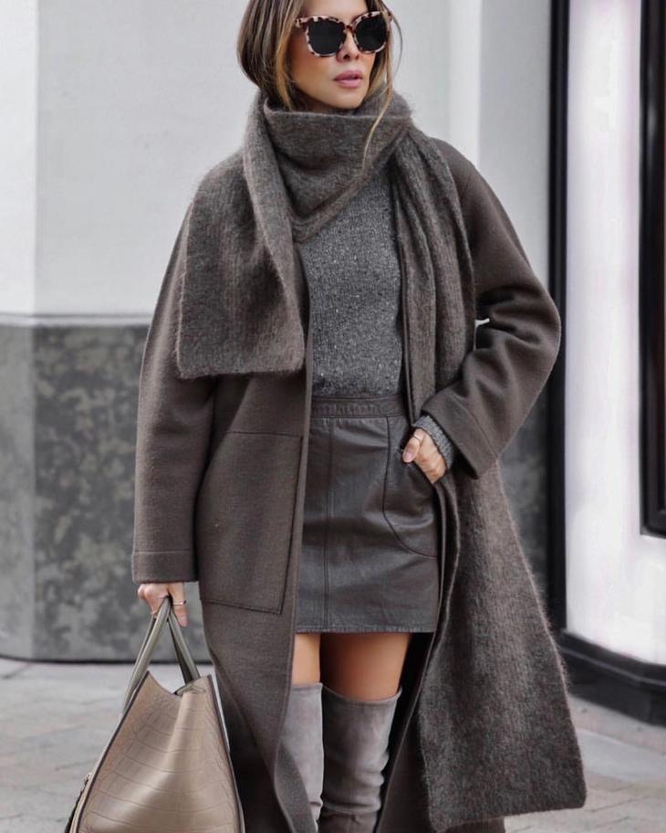 с чем носить юбку зимой 2020 фото 13