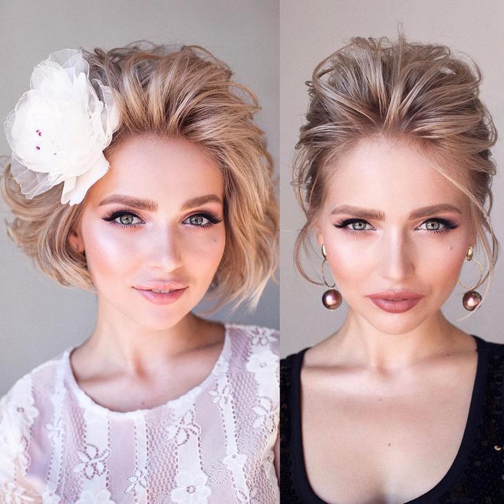 новогодние прически и укладки на короткие волосы 2020 фото 13