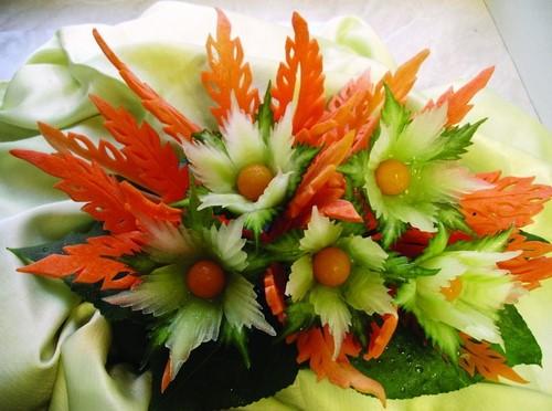 Овощная нарезка на праздничный стол - фото идеи
