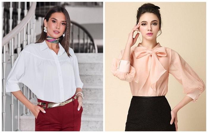 Выбирайте свободные блузы пастельных оттенков