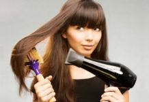Сушить волосы феном на максимальной мощности.