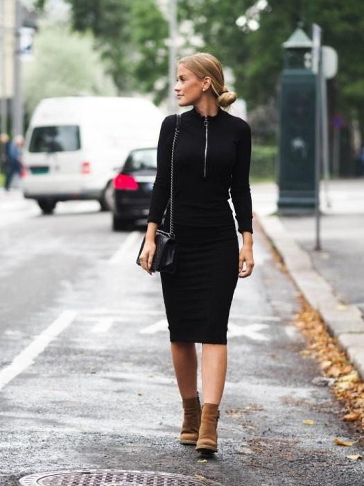Обтягивающее платье выглядит слишком откровенно. / Фото: Novaiy.ru
