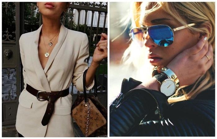 Часы, очки и ремень должны быть в арсенале у каждой девушки