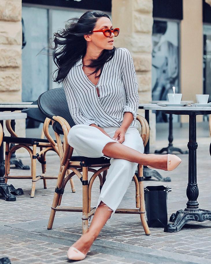 блузка в полоску фото 18