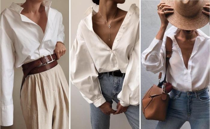 Отдавайте предпочтение оверсайз рубашкам из натуральных тканей. \ Фото: berg.style.