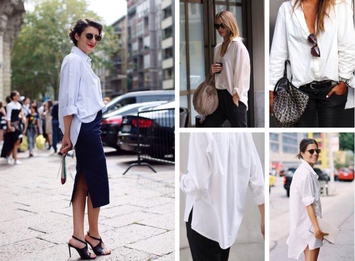 Белая рубашка в деловом стиле. \ Фото: womans.ws.