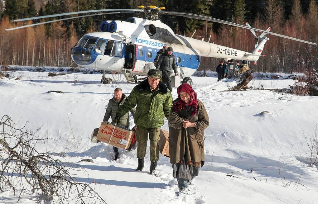 Во время встречи экспедиции Александр Рюмин/ТАСС
