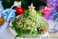 """Фото к рецепту: Фруктовый салат """"Новогодняя ёлка"""""""