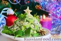 """Фото приготовления рецепта: Фруктовый салат """"Новогодняя ёлка"""" - шаг №11"""