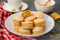 Фото к рецепту: Карамельные пряники из заварного теста, с молочной глазурью