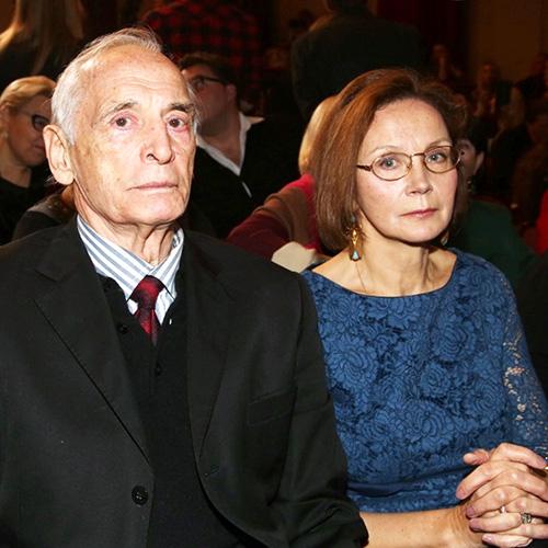 Василий Лановой с женой Ириной Купченко