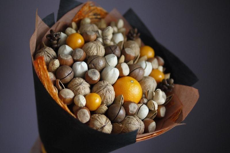 Букет с мандаринами