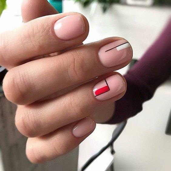 100 идей красивого маникюра на короткие ногти фото №7