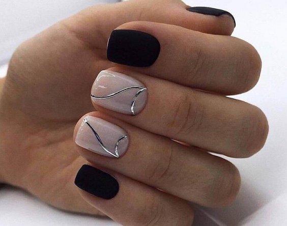 100 идей красивого маникюра на короткие ногти фото №8