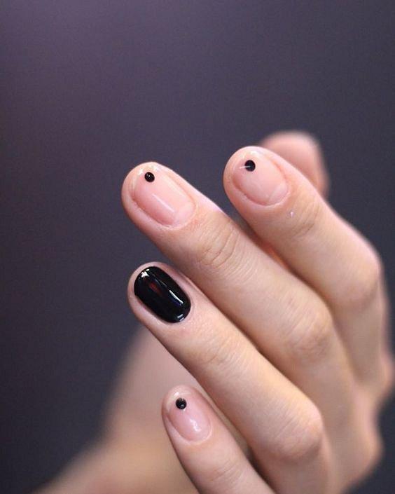 100 идей красивого маникюра на короткие ногти фото №9