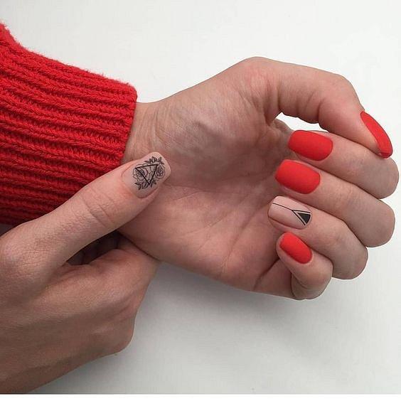 100 идей красивого маникюра на короткие ногти фото №15