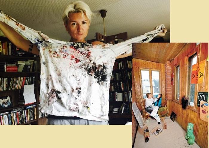 Диана Арбенина - бессменный лидер рок-группы «Ночные снайперы», художник, писательница.